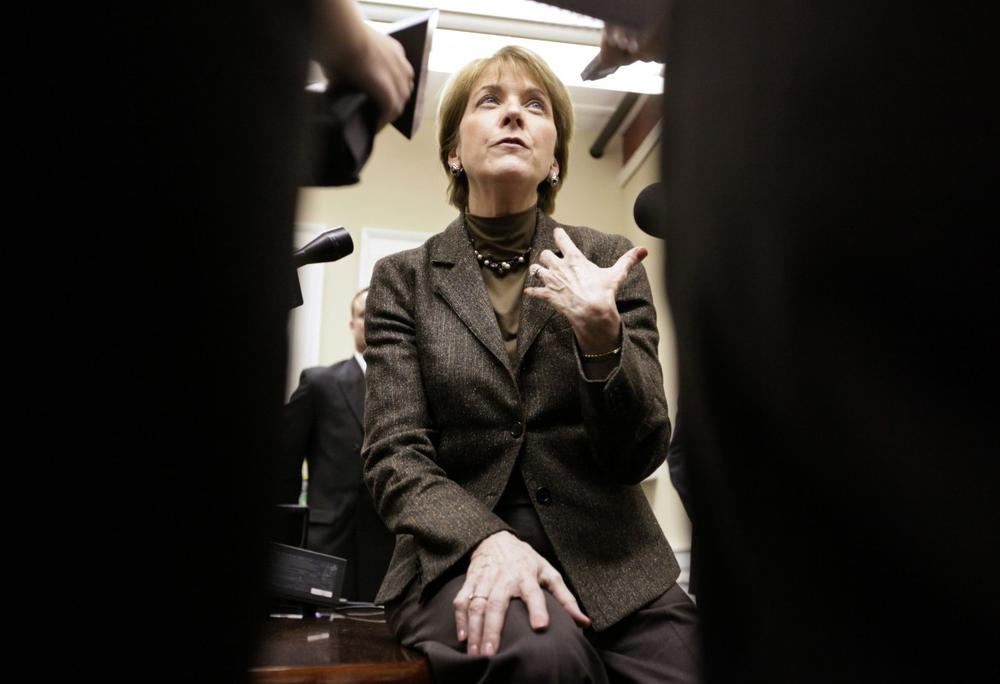 Massachusetts Attorney General Martha Coakley faces reporters in Worcester after Coakley said she would have voted against a major health care reform bill because it contained an anti-abortion amendment. (AP)