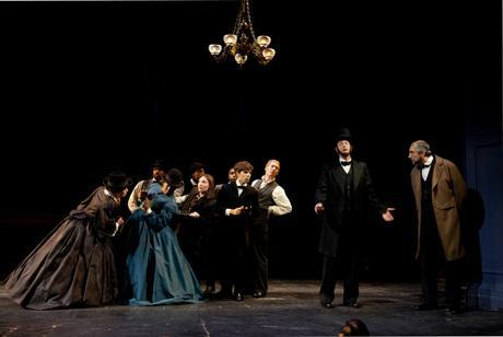 A scene from 'A Civil War Christmas.' (Photo courtesy the Huntington Theatre Company)