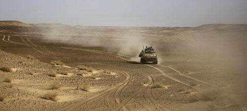 A United States Marine LAV vehicle of the 4th Light Armored Recon on patrol in the volatile Helmand Province of southern Afghanistan, Thursday, Dec. 3, 2009. (AP)
