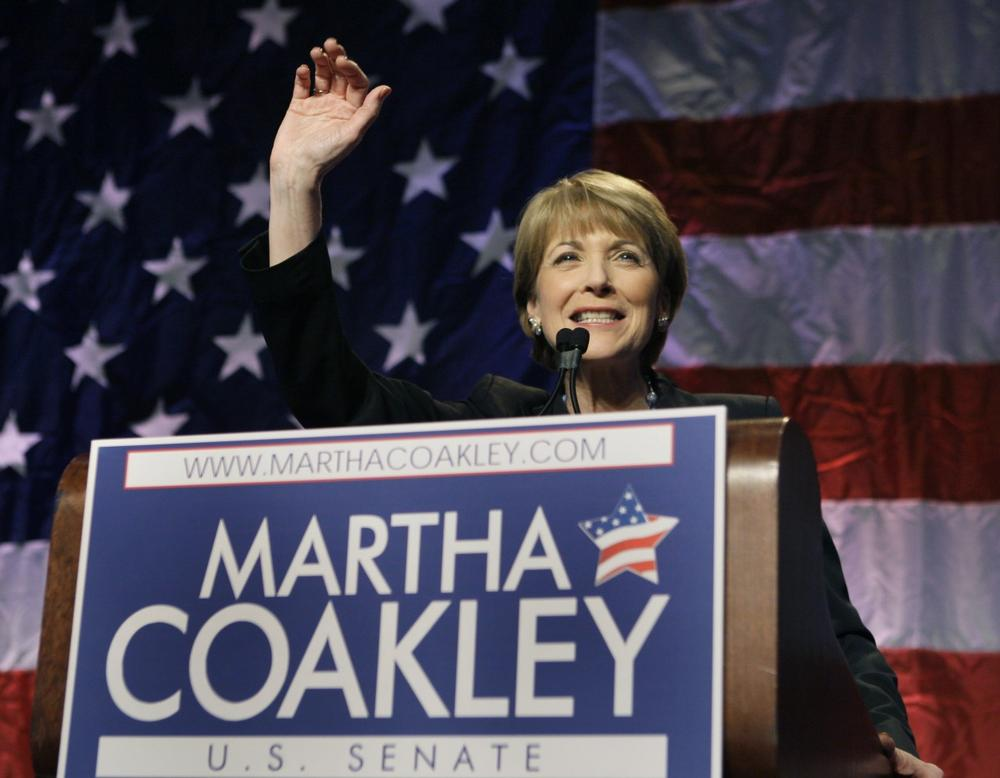 Coakley thanks supporters. (AP)