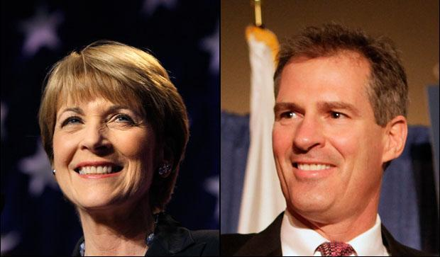 Nominees for the U.S. Senate, Democrat Martha Coakley and Republican Scott Brown. (Compiled from AP photos)