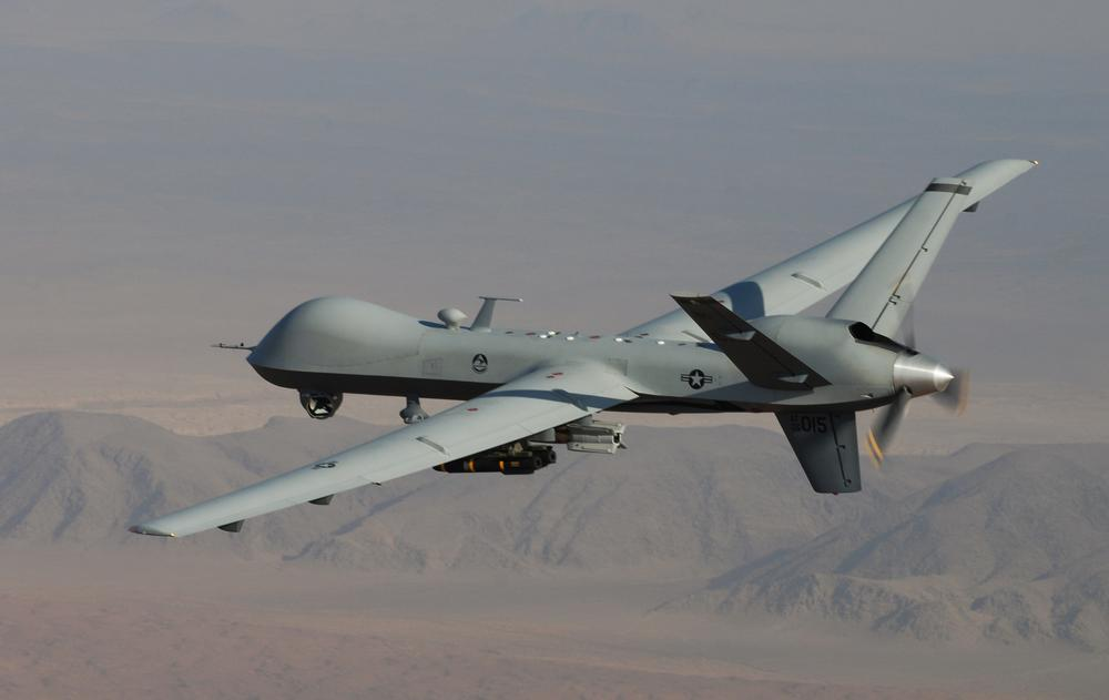 An unmanned aerial vehicle during a combat mission over southern Afghanistan. (AP/Lt. Col. Leslie Pratt, US Air Force)