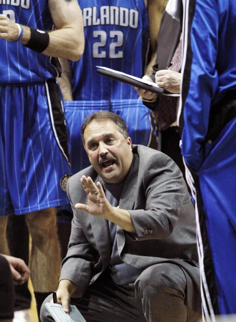 Seen here in this November file photo, Orlando Magic coach Stan Van Gundy took issue with NBA games on Christmas. (AP)