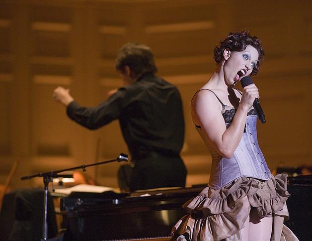 Amanda Palmer performs with the Boston Pops in 2007.  (Courtesy Photo)