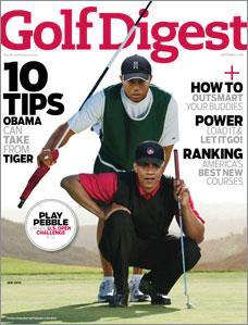 The January 2010 cover of Golf Digest