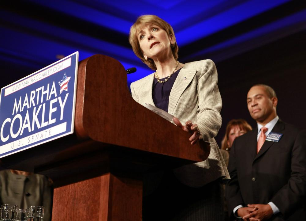 Martha Coakley concedes in Boston on Tuesday after losing the special election to fill the U.S. Senate seat left vacant by the death of Sen. Edward M. Kennedy. (AP)