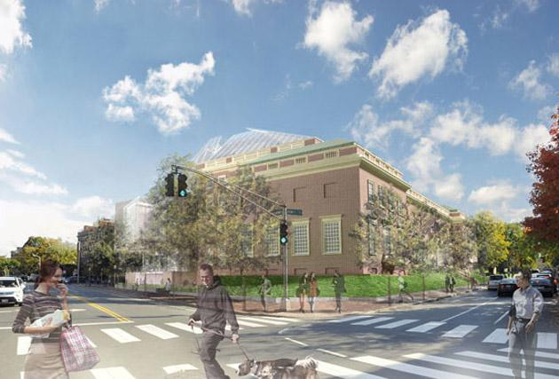 Proposed design for the new Harvard Art Museum, as it would look from Broadway and Quincy Street. (Courtesy Harvard Art Museum)