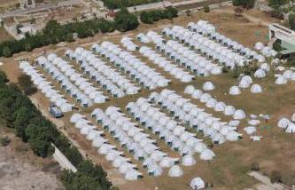 Congress Camp in Haiti where 400 ShelterBox tents have been set up. (Mark Pearson/ShelterBox)