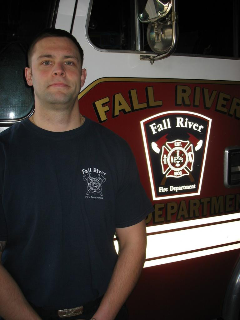 Ray Schofield was laid off by the Fall River Fire Department last year, but was brought back with federal stimulus money. (Monica Brady-Myerov/WBUR)