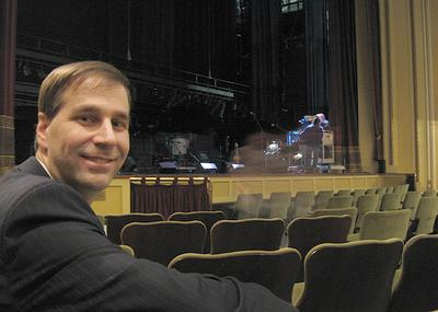 Hanover Theater's Troy Siebels (Andrea Shea/WBUR)