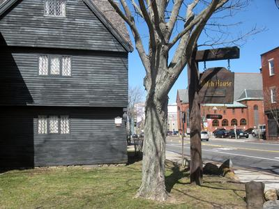The Witch House is one of the attractions that draws about one million visitors a year to Salem. (Deb Becker/WBUR)