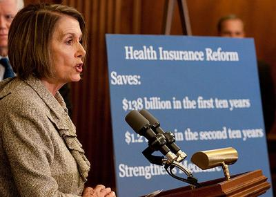 House Speaker Nancy Pelosi, D-California, speaks at a news conference in Washington on Thursday. (AP)
