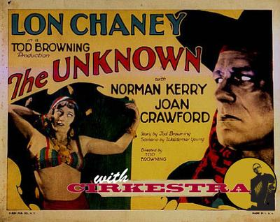 """The 1927 silent film """"The Unknown"""" features Lon Chaney as Alanzo, an apparently armless circus knife-thrower. Joan Crawford plays his beautiful assistant, Nanon, a woman who can't stand the touch of any man."""