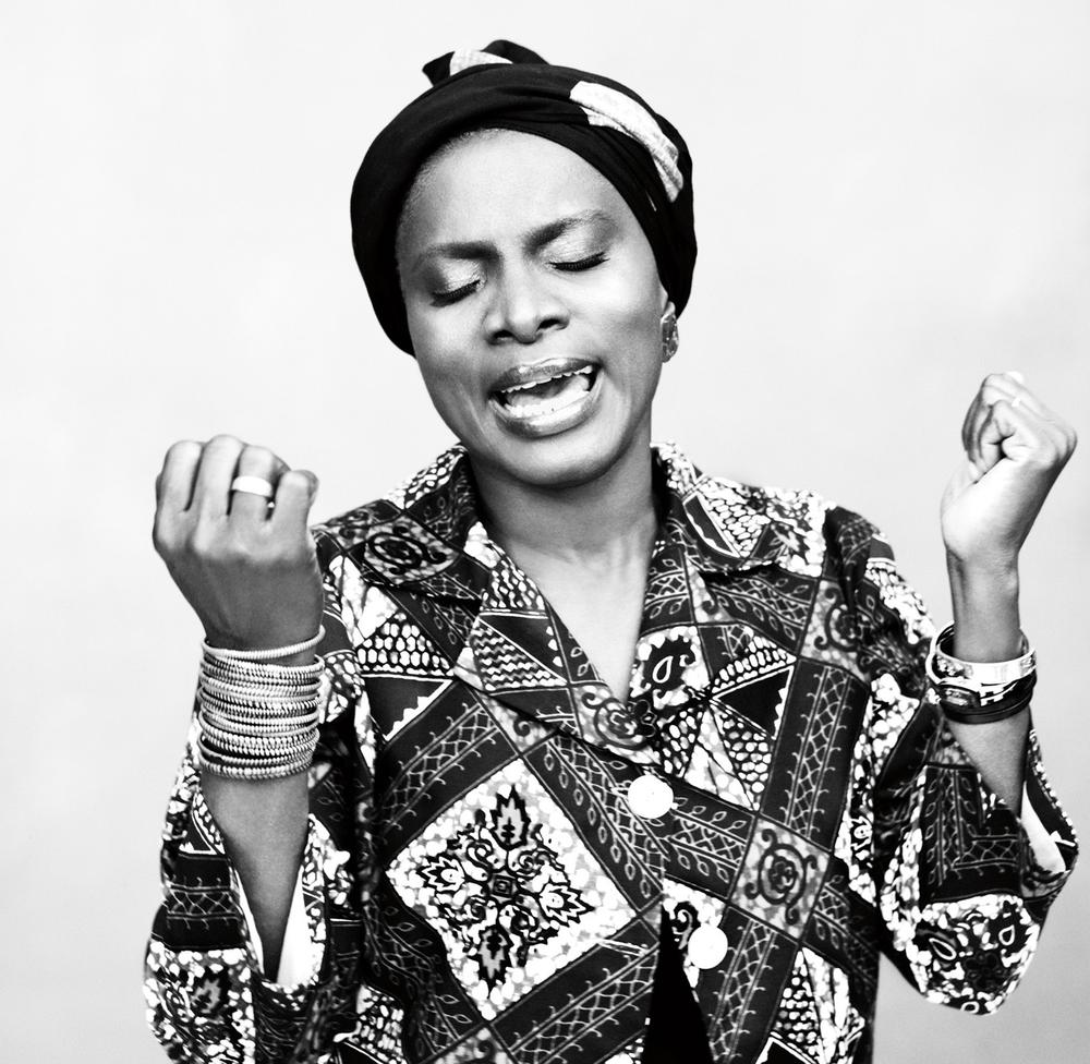 Angelique Kidjo combines rhythm & blues, soul music, jazz, and Beninese melodies in her new album, OYO, (Courtesy Alexei Hay)