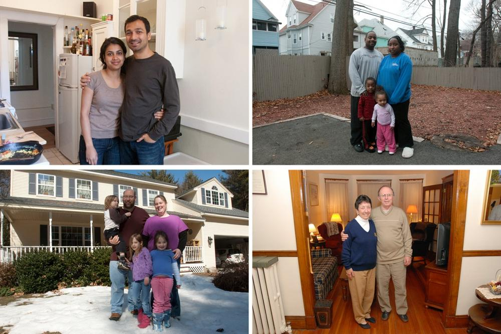 These people, detailed throughout our series, have had unique experiences with home owning and renting. (Jess Bidgood for WBUR & Andrew Phelps/WBUR) (Click to enlarge.)