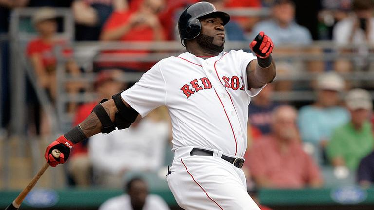 "David Ortiz hits a three-run home run during a spring training game on Sunday. Aside from doing ""little things"" well, analyst Glenn Stout thinks Ortiz's plate performance is one key to success this season. (AP)"