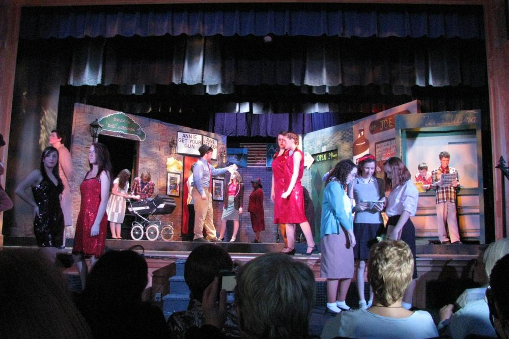"Students and parents at Hull High School raised money on their own for their production of ""Guys and Dolls,"" above. (Courtesy Jeannie Hulverson)"