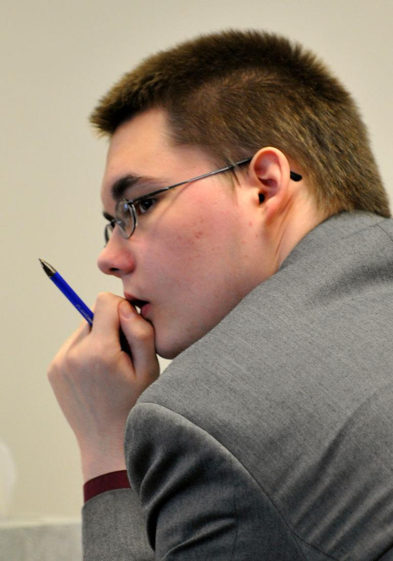 John Odgren sits during his murder trial at Middlesex Superior Court in Woburn on Monday. (AP)