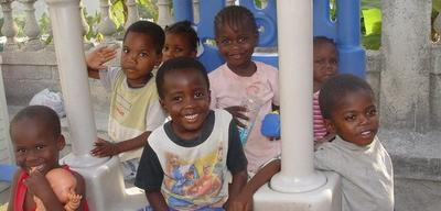 Countless Haitian children were orphaned in the aftermath of the January earthquake. (Courtesy BBC)