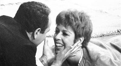 "In this Sept. 1967 file photo, Harvey Korman holds the face of Carol Burnett during a routine on ""The Carol Burnett Show.""(AP)"