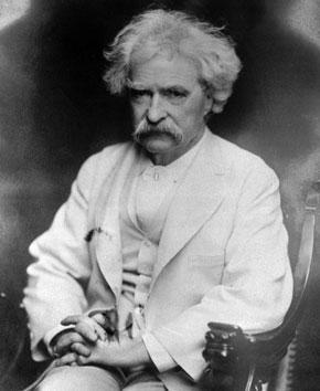 Author Samuel Longhorne Clemens, better known under his pen name, Mark Twain, is seen in an undated photo. Twain died April 21, 1910. (AP)