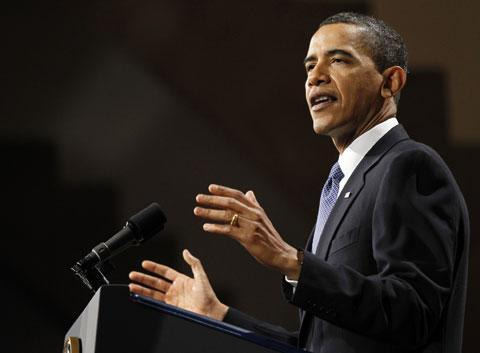 President Barack Obama speaks about financial reform at the Great Hall at Cooper Union in New York Thursday, April 22, 2010. (AP)