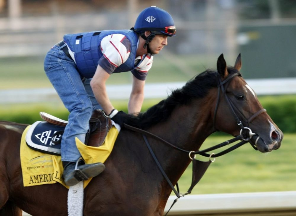American Lion, a Kentucky Derby contender, on April 30. (AP)