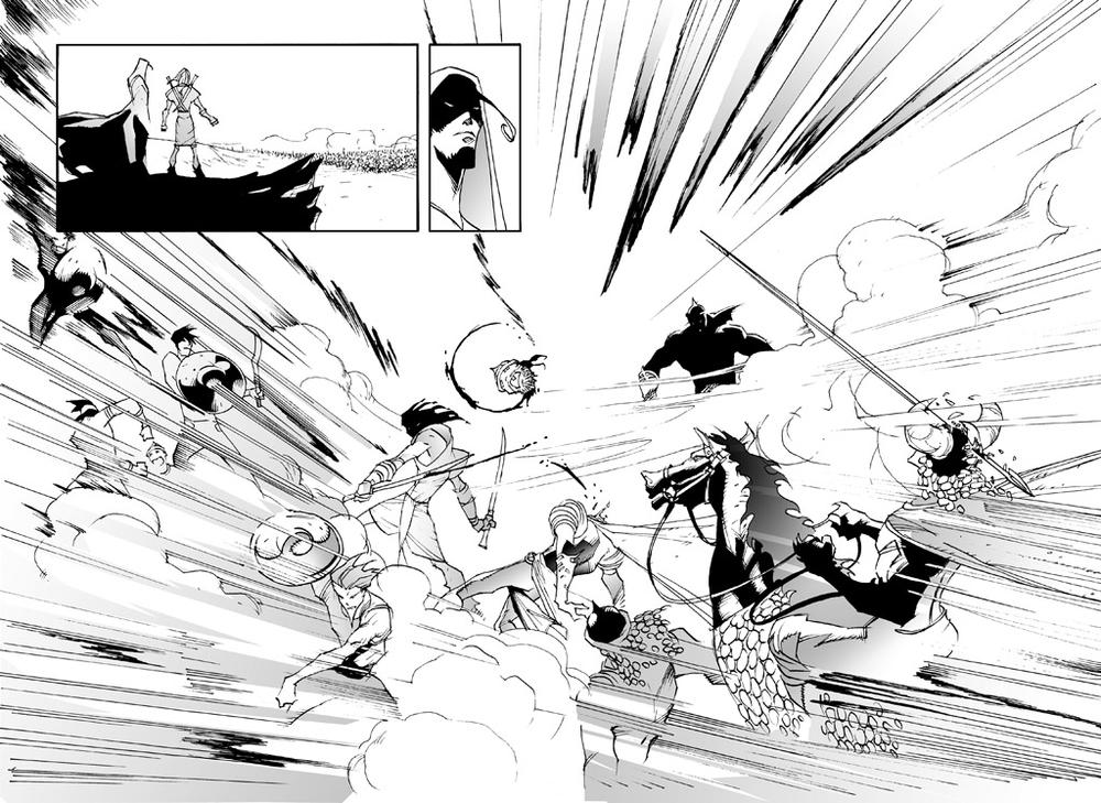 Battle scene from The Manga Bible (Siku)