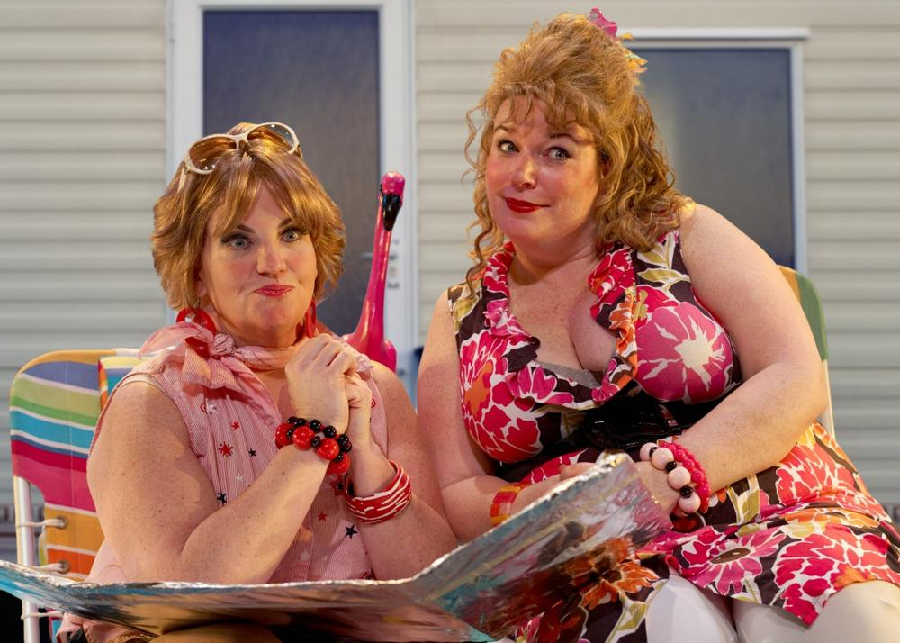 "Mary Callanan and Kerry Dowling in ""Great American Trailer Park Musical."" (Mark Saperstein)"