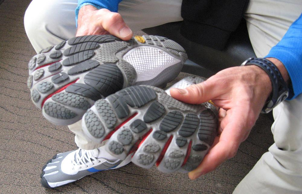 With the shoeless craze sweeping the running community, the Vibram Five Fingers have gained popularity. (Karen Given/Only A Game)