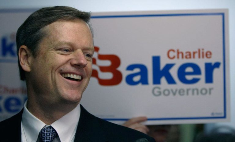 Republican gubernatorial candidate Charlie Baker in July 2009, when he filed paperwork for his candidacy. (Charles Krupa/AP)