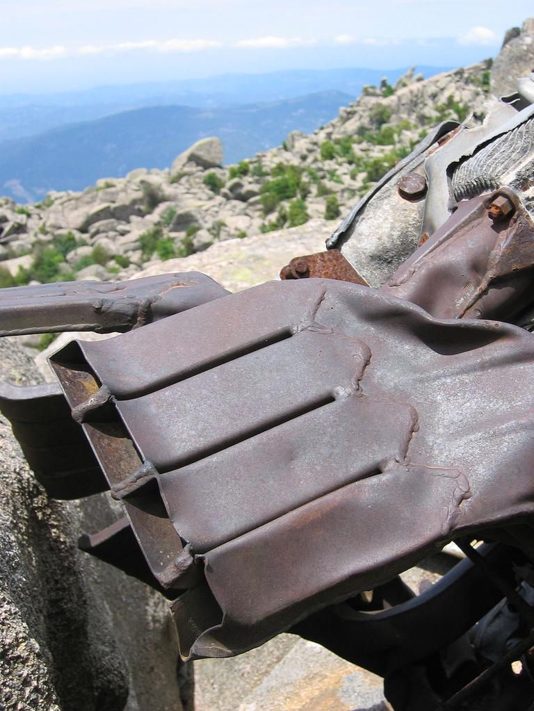 Loring's plane wreckage on Mount Cagna in Corsica, France (Courtesy of JPAC)