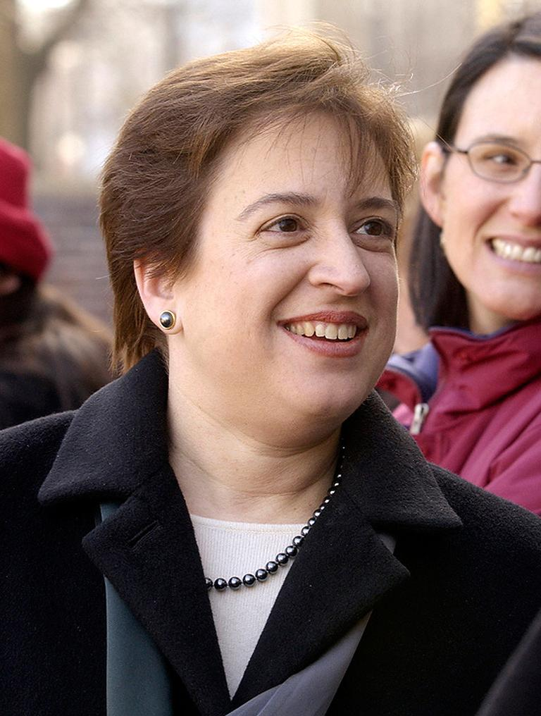 Then Harvard Law School Dean Elena Kagan at the opening of the school's ice skating rink in Cambridge on Jan. 21, 2004. (AP/Harvard)