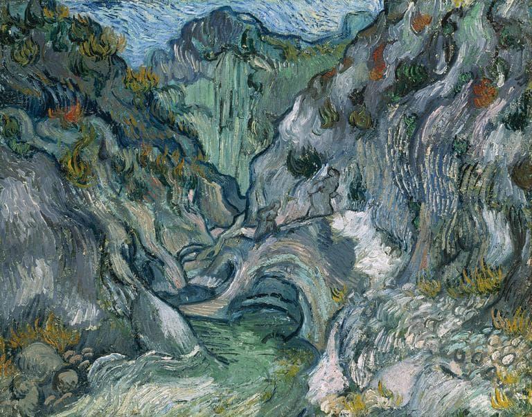 """The Ravine,"" Vincent van Gogh, 1889, Oil on canvas"