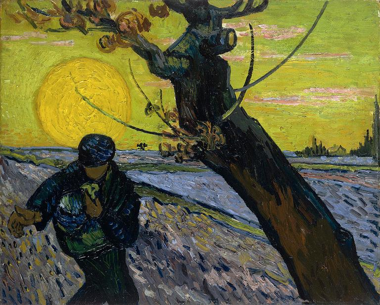 """The Sower,"" Vincent van Gogh, 1888, Oil on canvas"