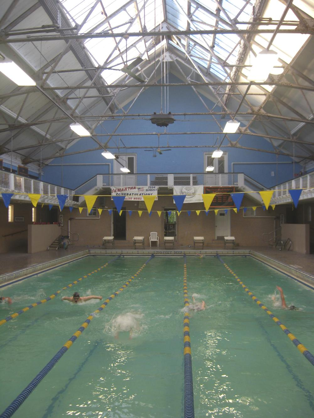 The Greenwood Memorial Swim Club is badly in need of repairs, but Gardner is unable to afford them. (David Boeri/WBUR)
