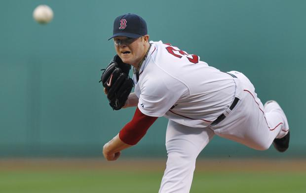 Boston starter Jon Lester delivers against Minnesota during the first inning of the game in Boston on Thursday. (AP)