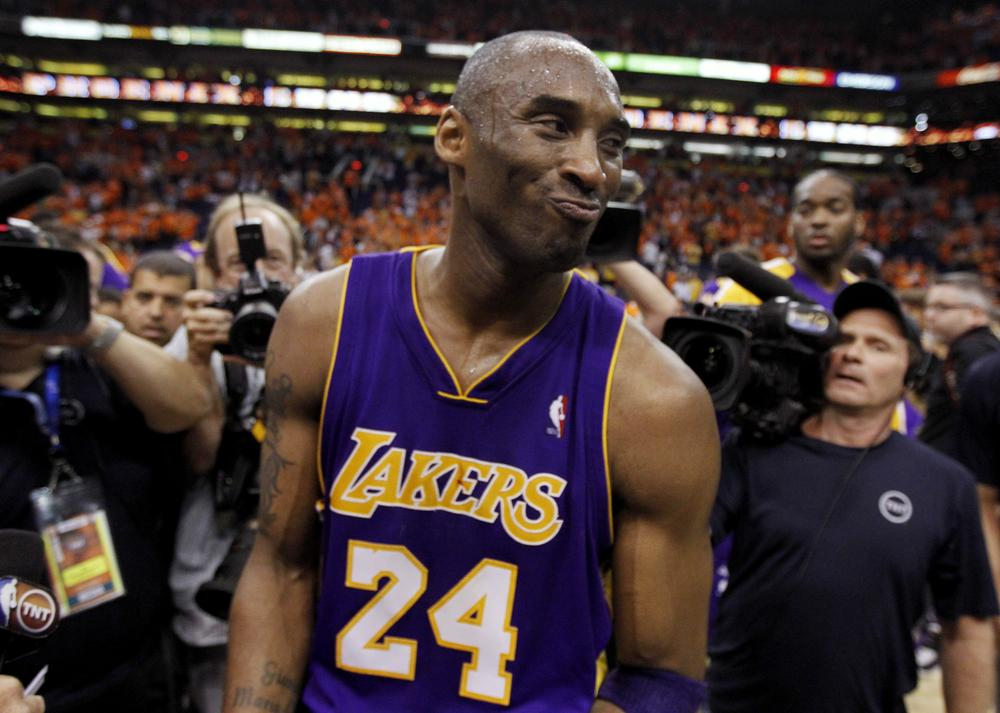 Kobe Bryant is seen after Game 6 of the NBA basketball Western Conference finals, in Phoenix.  (AP Photo/Chris Carlson)