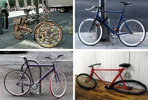 New York City Bicycles (onesevenone & pocketmonsterd/flickr)