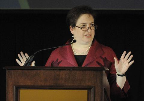 Solicitor General Elena Kagan speaks during a conference on May 3, 2010 in Chicago. (AP)