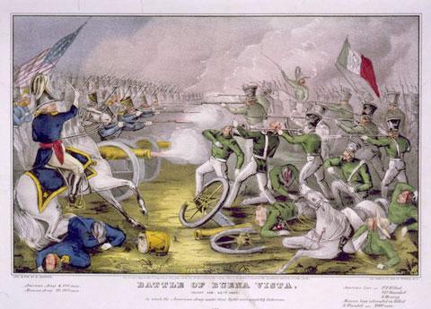 A rendering of the 1847 Battle of Buena Vista, during the Mexican-American War. (Credit: Library of Congress Prints and Photographs Division)