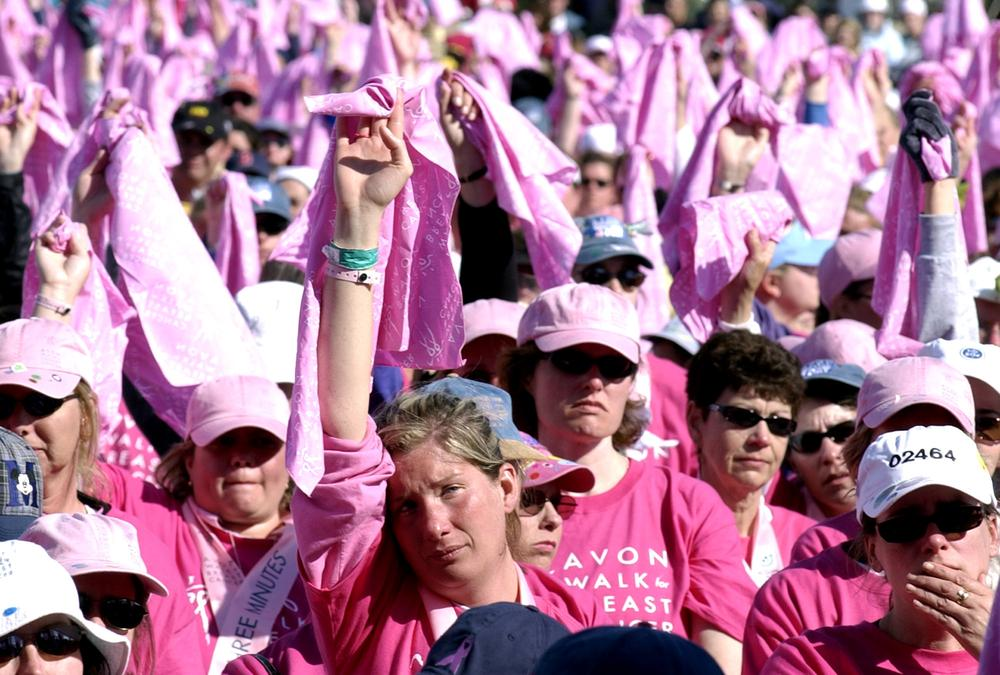People take part in the Avon Walk for Breast Cancer in Boston in 2003. (AP)