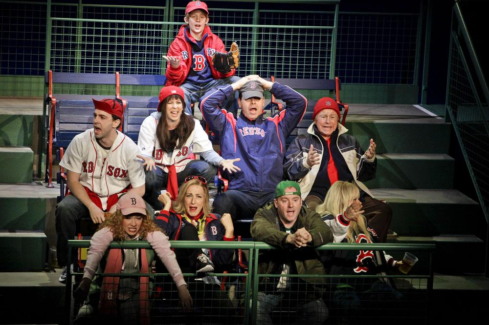 "Red Sox fans in the new musical ""Johnny Baseball."" (Marcus Stern/American Repertory Theater)"