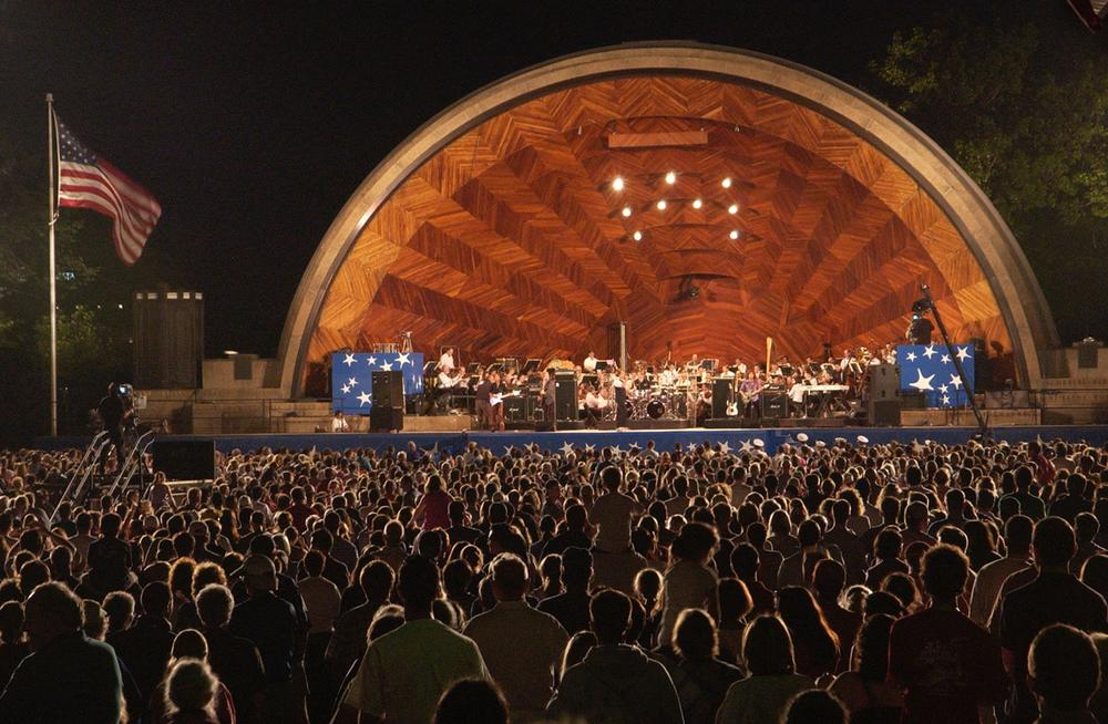 The Boston Pops play at the Hatch Shell. (AP)