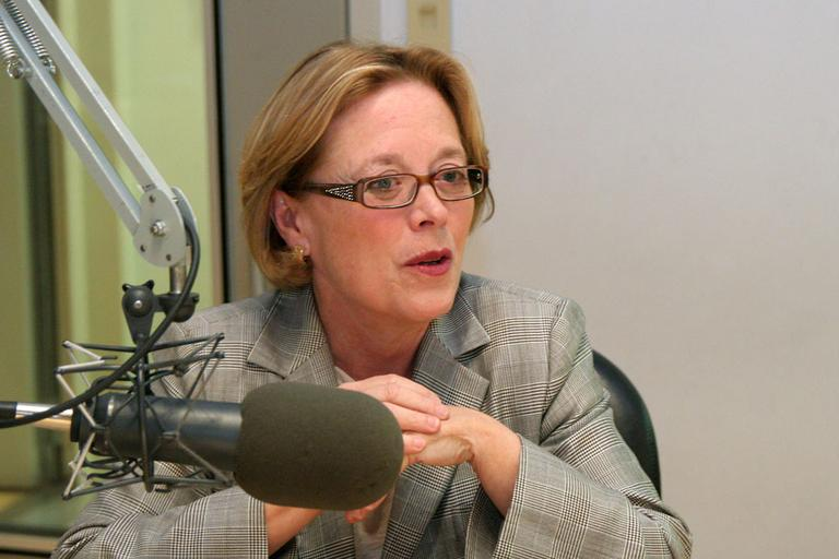 Rep. Niki Tsongas in WBUR's Studio 3 on Tuesday (Andrew Phelps/WBUR)