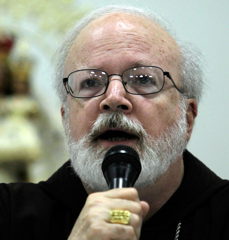 Boston Cardinal Sean O'Malley speaks during a news conference in Havana, Cuba, on Aug. 18, 2009. (AP)