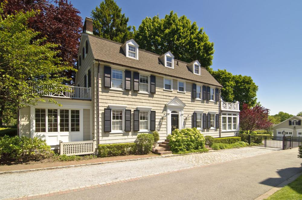 "The house made famous in the 1979 film ""The Amityville Horror"" in Amityville, N.Y. The five-bedroom Dutch Colonial went on the market in May for more than one million. (AP/Daniel Gale Sotheby's International Realty, Kevin J Wohles)"