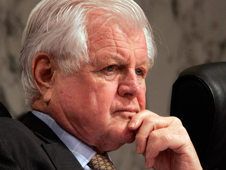 In this May 8, 2008, file photo, the late Sen. Edward M. Kennedy listens during a hearing in Washington. (AP)