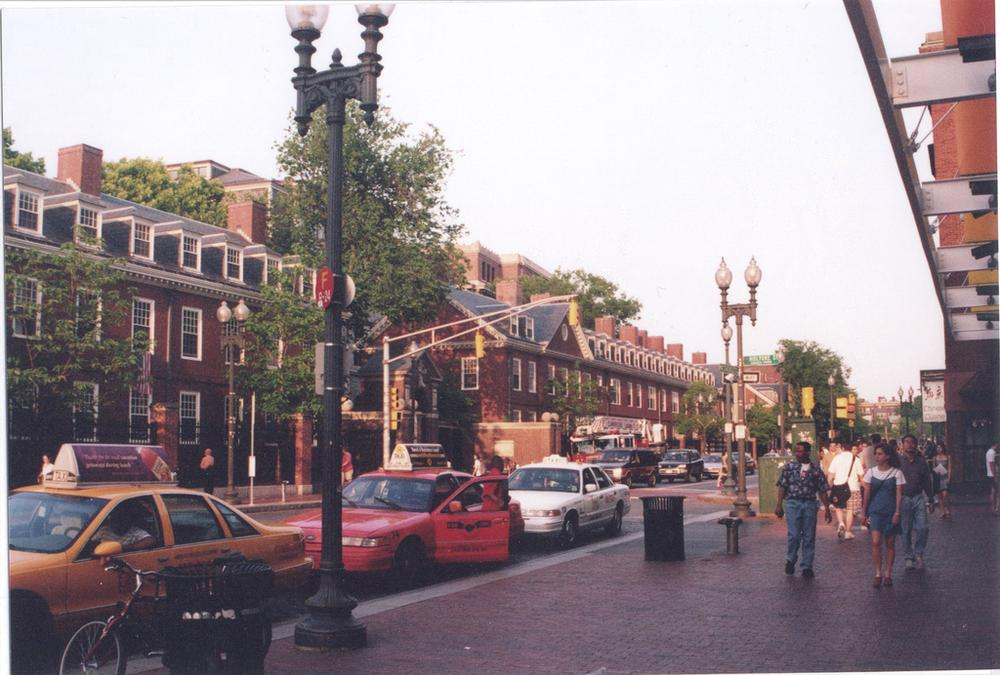 Harvard Square will host a big, European-style jam session on Saturday (DBaron/Flickr)