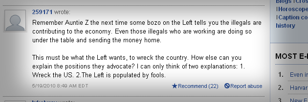 The comments on a Boston.com story about President Obama's Kenyan-born aunt, Zeituni Onyango, who was granted asylum in the United States, were particularly virulent.